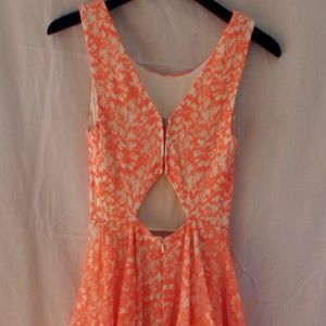 Guess White and Orange Cocktail Dress